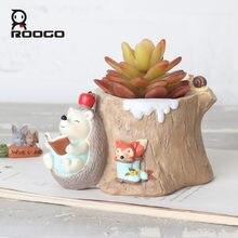 Roogo горшки для влагозапасающего растения Цветочный горшок