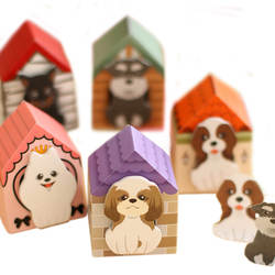 5 шт./лот новая милая, картонная щенок компактный ноты мультфильм мин прочный заметка планировщик наклейки канцелярские Бумага