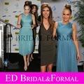 Дженнифер лопес платье Maribel фонд 2010 синий тюль чай знаменитости коктеила ну вечеринку платье