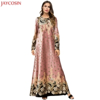 JAYCOSIN Women's muslim dress dubai kaftan National Robe Abaya Islamic Muslim Middle Eastern Long Dress Muslim woman dress z0429