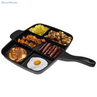 Sweettreats 5 in 1 magic pan Non-Stick Divided Grill/Fry/Oven Meal Skillet, 15