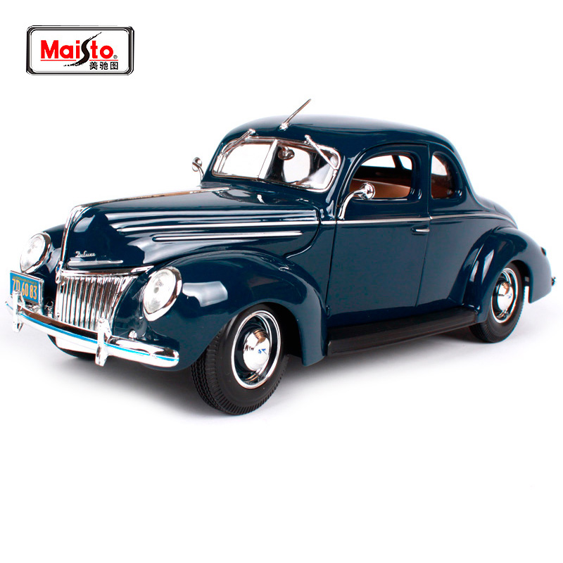 Maisto 1 18 1939 Ford Deluxe Old Car model Diecast Model Car Toy New In Box