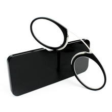 Pince-nez Plastic Titanium Full Frame Reading Glasses TR90 Portable Nose Men Women Presbyopic Glasses