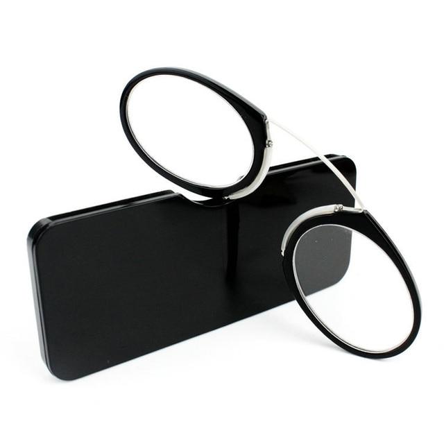 a279a6dd607 Pince-nez Plastic Titanium Full Frame Reading Glasses TR90 Portable Nose Men  Women Presbyopic Glasses