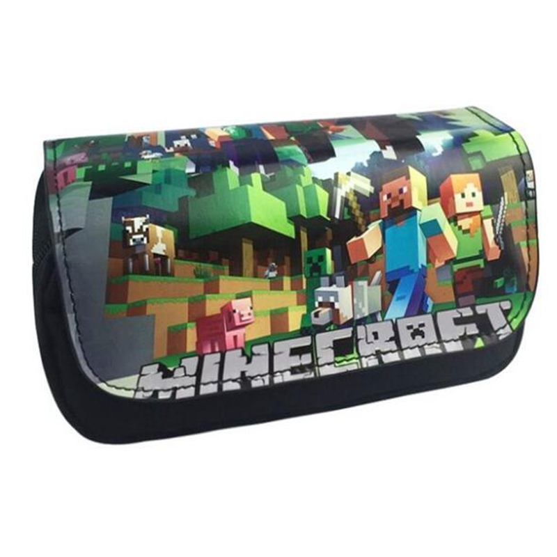 Minecraft Pencil Case Classic Game Animated Cartoon PU Fabric Super Big Capacity Pencil Bag School Supplies Bts Stationery Gift lucky john croco spoon big game mission 24гр 004