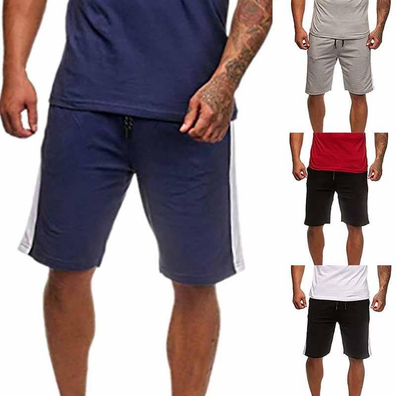Vertvie 2019 мужские свободные шорты для бега для фитнеса повседневные тренировочные полосатые шорты Спортивная одежда для футбола высокая эластичная