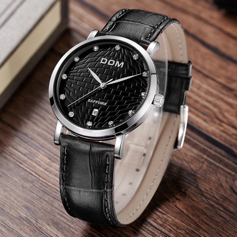 DOM 2018 Fashion Quartz Watch Men Watches Top Brand Luxury Male Clock Business Mens Wrist Watch Hodinky Relogio Masculino