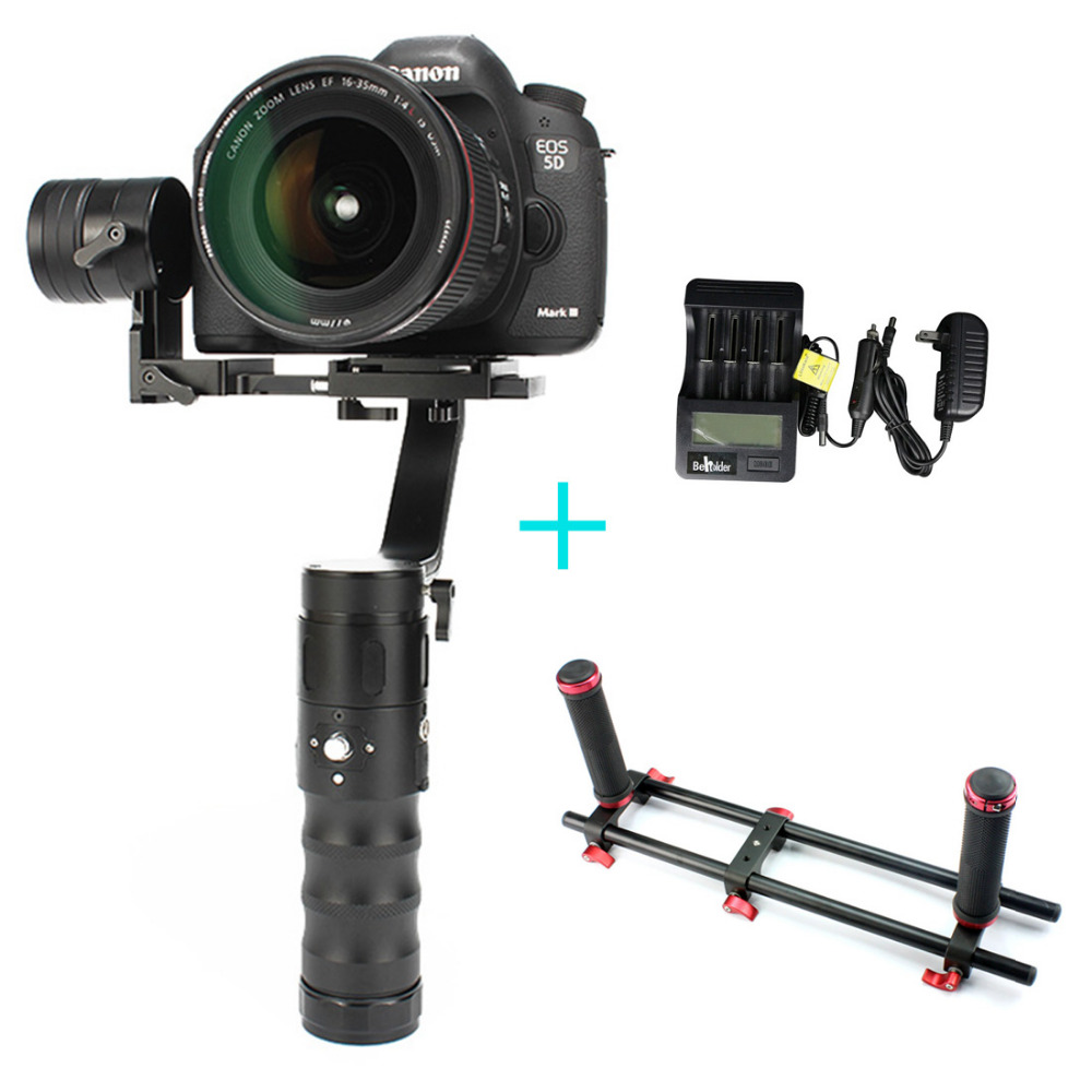 Beholder EC1 32-bit 3-axle Handheld 360 Camera Gimbal Stabilizer holder bracket battery charger for A7S Canon 6D/5D/7D Mirrorles beholder ds1 3 axis handheld gimbal stabilizer for a7s canon 6d 5d 7d dslr camera