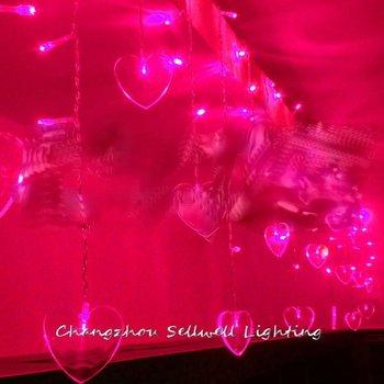 Led yıldız aydınlatma giriş ayrı dekorasyon pencere dekorasyonu 0.5*4 m pembe buz çubuğu lambası H216