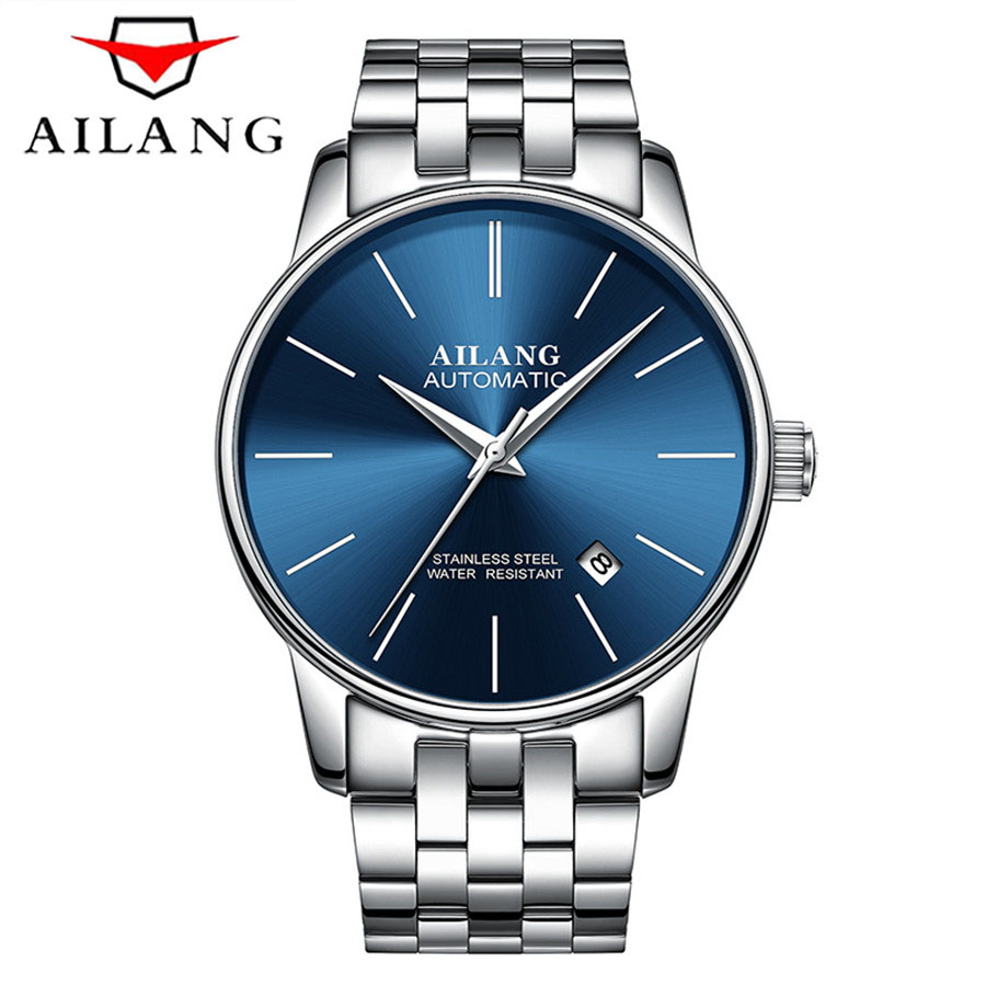 relogio masculino AILANG Mens Watches Top Brand Luxury Fashion Business Automatic Watch Sport Full Steel Mechanical
