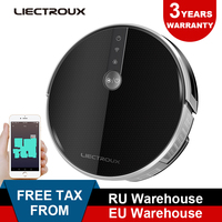 2019 new LIECTROUX Robotic Vacuum Cleaner C30B, Navigation,Memory, Map,Wet&WiFi, remote from phone,3000Pa Suction,water tank