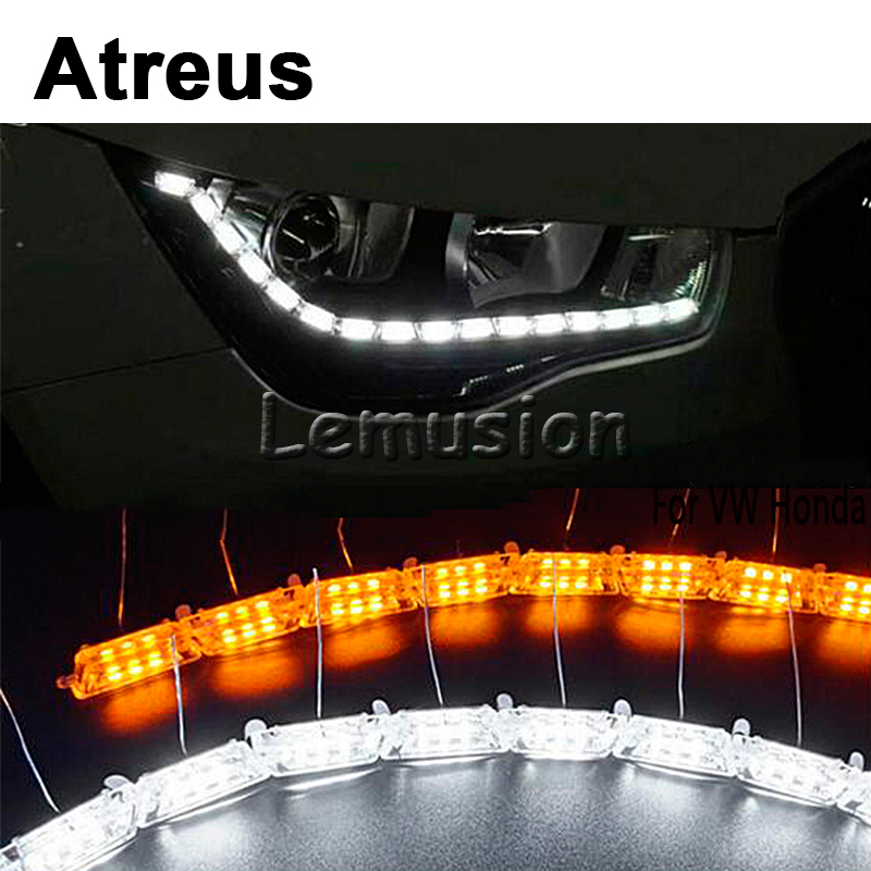 все цены на Atreus 2X Car LED Crystal water lamp LED DRL lights 12V For Acura MDX RDX Volvo XC60 XC90 S80 V70 S40 Saab 9-3 9-5 accessories онлайн