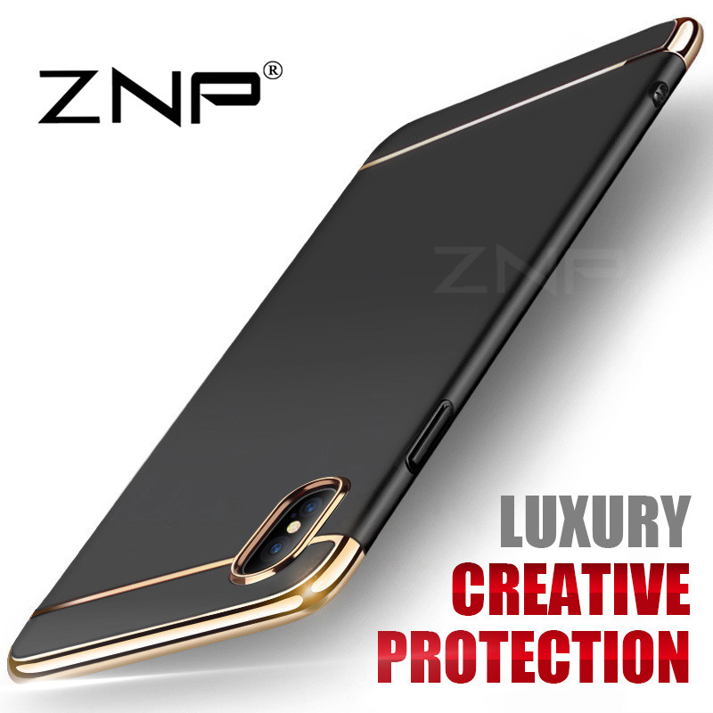 ZNP 360 Luxury Ultra Thin Shockproof Cover Cases for iPhone x 10 case PC Plastic Phone Cover for iPhone x...  iphone x cases 360 ZNP font b 360 b font Luxury Ultra Thin Shockproof Cover font b Cases b font