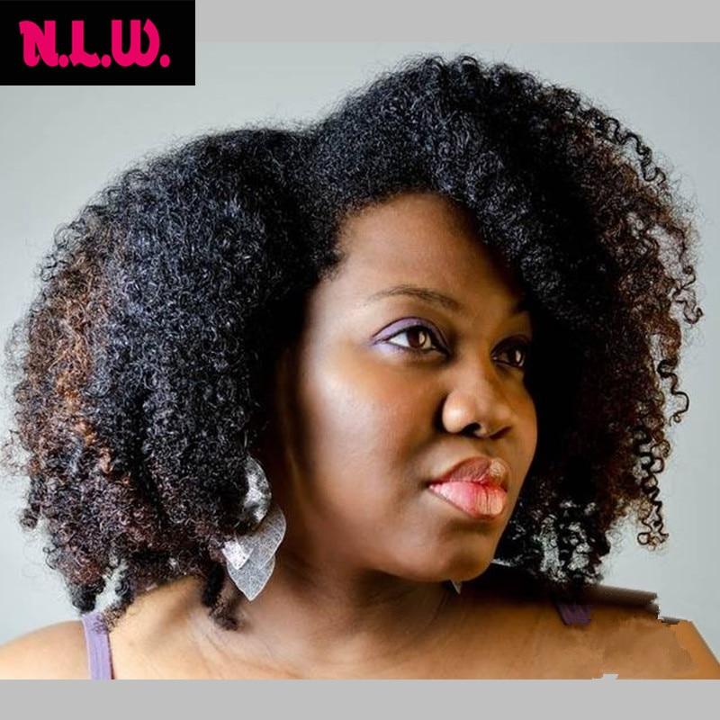Brazilian Virgin Natural Human Hair Wigs Kinky Curl Wig African