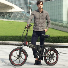 Electric bike 20inch Aluminum Folding electric Bicycle 350W Powerful e bike 48V12A Lithium Battery City/Snow bike Mountain ebike(China)