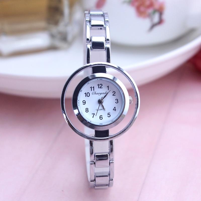 все цены на Original CYD Women Watches Ultra Thin Stainless Steel Quartz Watch Bracelet Silver Wrist Watch Women Montre Femme Clock Female
