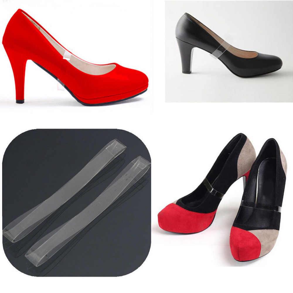 Giày trong suốt Ren Vô Hình Giày Dây Đeo Silicone Giày Cao gót Dây Giày Chùm Chống Giày Off cho Khiêu Vũ Chạy