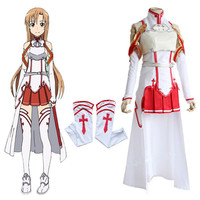 High quality dress Latest cartoon cartoon Sword Art Online Asuna Cosplay Costume Free shipping