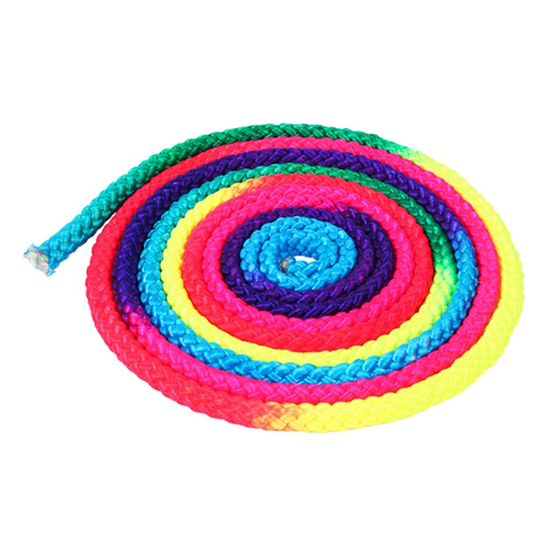 Rainbow Color Rhythmic Gymnastics Rope Solid Competition Arts Training Rope Gymnastics Sports Rope