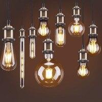Retro imitacja Wolframu żarnik żarówki Ciepły biały żarówka Edisona E27 2 W 4 W 8 W źródło światła dekoracji kryty oświetlenie