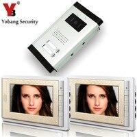 2 Units Apartment Intercom Wired 7 Inch Monitor Video Intercom Doorbell Door Phone Audio Visual Intercom