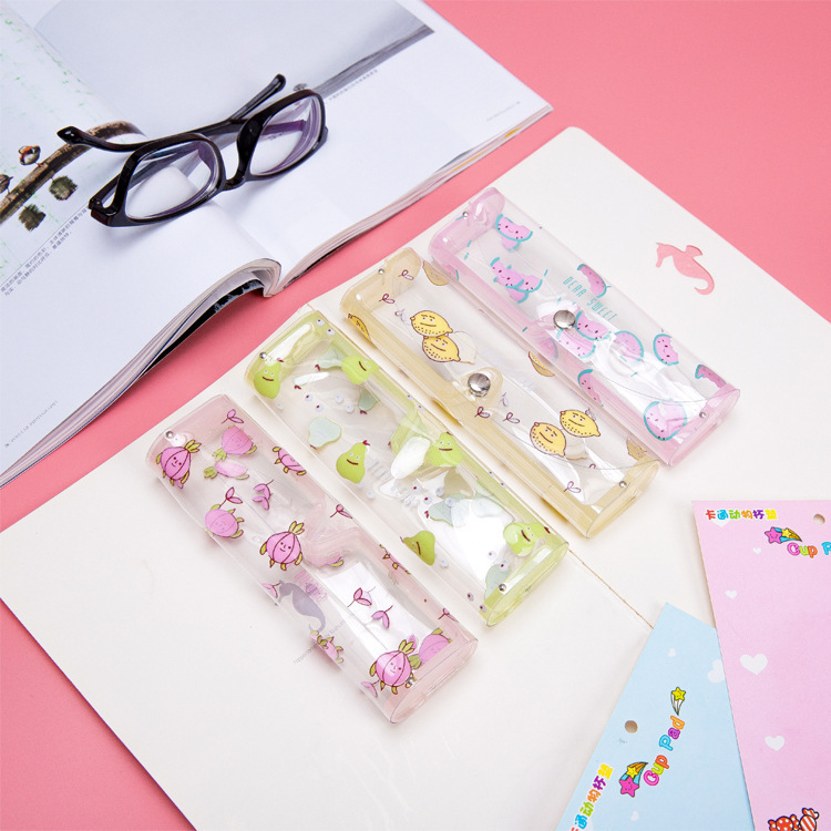 Back To Search Resultsoffice & School Supplies Pencil Cases & Bags 1pcs Cartoon Animals Transparent Plastic Eye Glasses Protector Case With Metal Button Sunglasses Box Fruit Animal Pencil Case