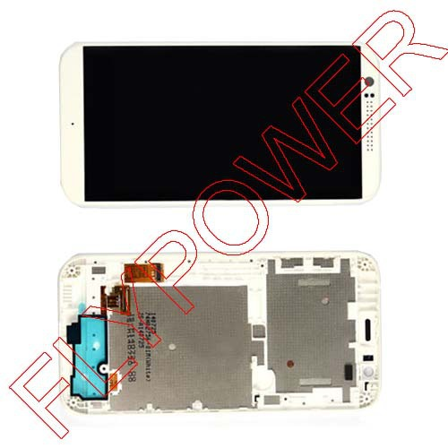 For HTC Desire 510 LCD display screen with touch screen digitizer + Frame assembly White by free shipping for htc desire 816g lcd screen display with touch screen digitizer assembly by free shipping 100