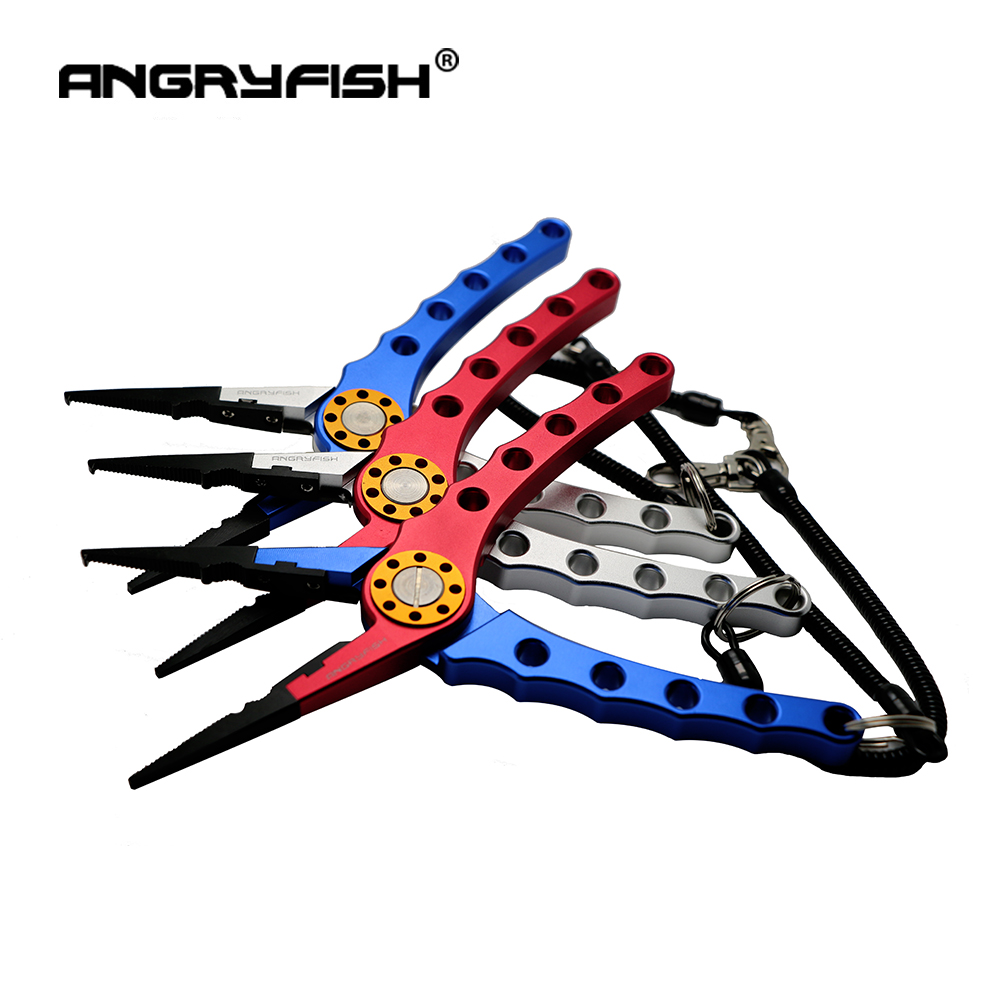 ANGRYFISH L2 Aluminum Fishing Tool Line Cutters Fishing Hooks Remover Fishing Clamp Tackle Red/Silver title=