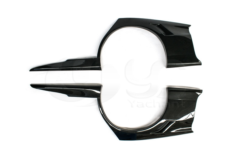 2006-2007 Mitsubishi Lancer Evolution 9 Voltex Cyber Version Style +30mm Rear Fender Panels CF (1)