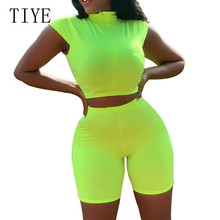 TIYE Rompers Womens Casual Sleeveless O-neck Two Pieces Sets Jumpsuits Summer Hight Street Slim Playsuits Female Plus Size XXL