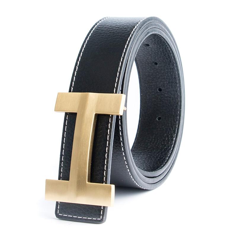 2017 Solid Brass Luxury H Brand Designer Beltss