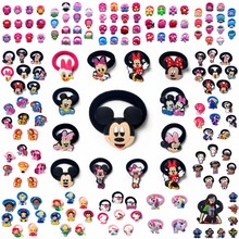 100PCS Hairbands Mickey Minnie Kids Scrunchy Hair Band Elastic Accessories Girls Rope
