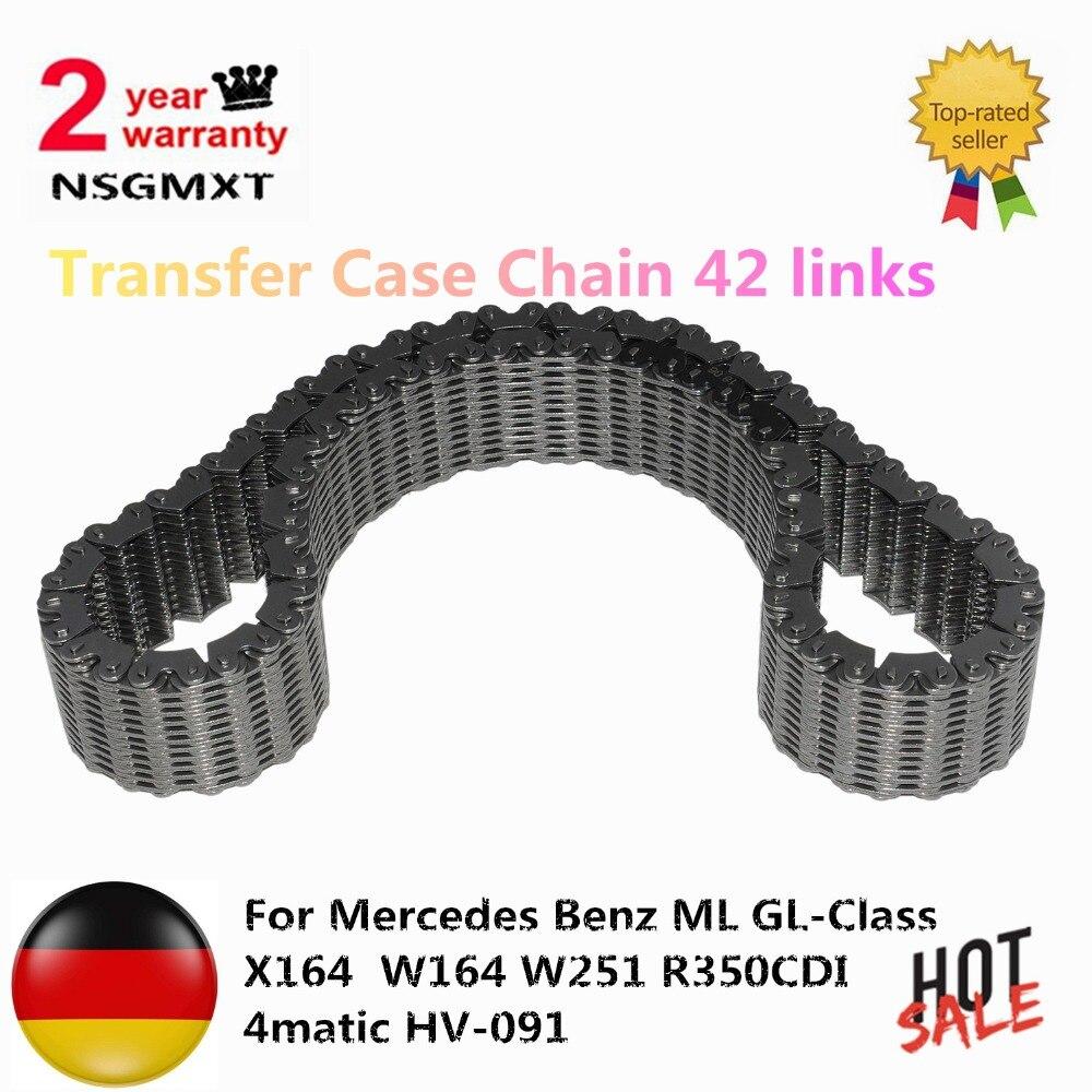 AP02 트랜스퍼 케이스 체인 42 링크 메르세데스 벤츠 ML GL 클래스 X164 W164 W251 R350CDI 4matic HV091 2512800800 A2512800900