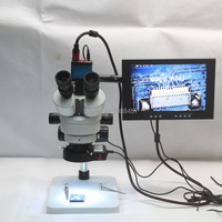 Trinocular Stereo Microscope 3 5X 90X Continuous Zoom Magnification 14MP HDMI USB Camera LED Light Source