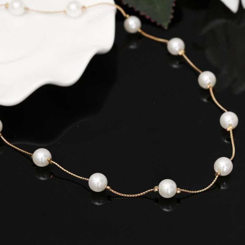 Hesiod ожерелья из искусственного жемчуга и подвески винтажные женские колье ожерелье золотого цвета модные ювелирные изделия для женщин подарок для друзей