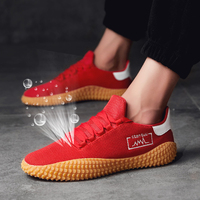 New 2019 Men's Vulcanize Shoes Walking Shoes Man Sneakers Shoes Men Red Trainers Male Sneakers Tenis Masculino Zapatillas 39 44