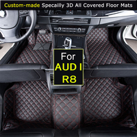 Specially for AUDI R8 Car Floor mats Car styling Foot Rugs Custom Carpets 3D All covered Waterproof Black Brown Beige