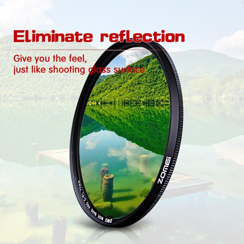 ZOMEI Ultra Slim AGC Optique Verre PRO CPL Circulaire Polarisant Polarisant Camera Lens Filtre 37/40. 5/49/52/55/58/62/67/72/77/82mm