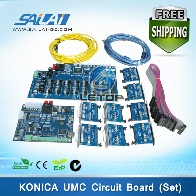 One set large format printer umc main board/head board for konica 512 8pcs print head v1.2d
