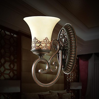 Европейский художественный Винтаж светодиодный настенный светильник огни с 1 света для Гостиная дома Освещение бра бесплатная доставка