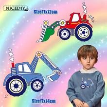 Nicediy Iron On Transfers For Clothes Printable Heat Transfer Vinyl Sticker Tractor Patch Badge Thermal Press Applique