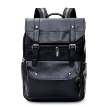 Luxury leather Business Black men's notebook backpack man school backpacks for teenagers Boy male laptop backpack Men bag pack пазлы dodo пазл мини тедди и его друзья 35 элементов