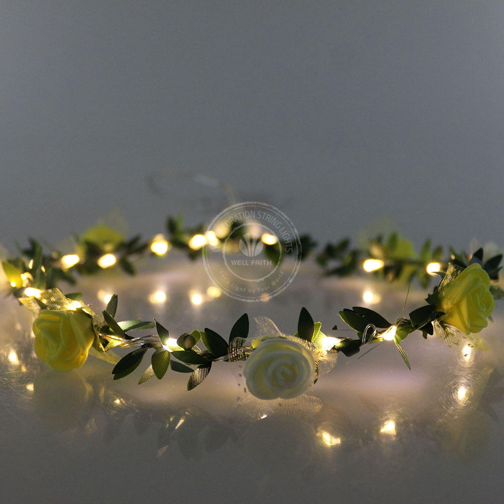 15 pieces/lot Plastic floral hoop 2CR2032 batteries operateled led ...
