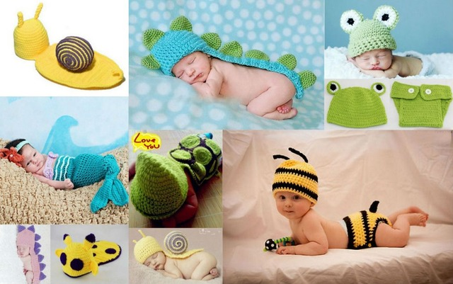 bb15baf9e130 Baby Handmade prince newborn infant baby Animal Beanie cap photography  props knitted hat OUTFITS SETS Cashmere