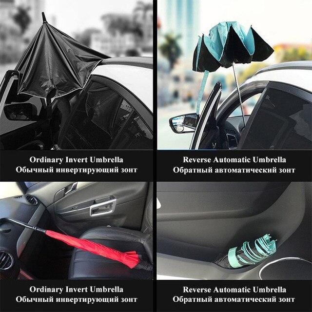 Pieghevole Reverse Ombrello Pioggia Rivestimento occhiali da Sole Degli Uomini Delle Donne Grande Antivento Nero Ombrelli Regali Parasole Automatico di Affari Auto Paraguas 4