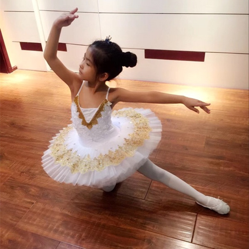 White Swan Lake Dance Costumes Profession Ballet Tutu Skirt Children Classical Competition Girls Tutus Ballerina Kids