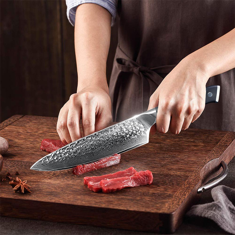 Damascus Knives Chef Knife Japanese Kitchen Knife Damascus VG10 67 Layer Stainless Steel Knives Ultra Sharp G10 Handle