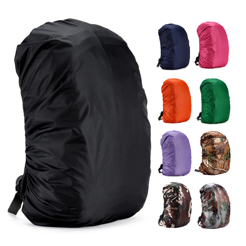 New Large Camouflage Wear-resistant Backpack Rain Cover Waterproof Dust Cover Camping Camping Backpack Protection Cover 35-80L