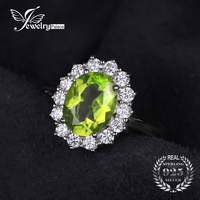 JewelryPalace 2 74ct Princess Diana William Kate Middleton S Natural Green Peridot Engagement Ring 925 Sterling