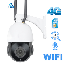 Outdoor IP Camera 1080P 960P HD 3G 4G WIFI PTZ 5X Zoom Onvif IR 50M Wireless Security Surveillance Camera SIM SD Card Audio 3g 4g sim card camera 960p hd p2p network wireless wifi ip camera home security remote control motion detection alarm